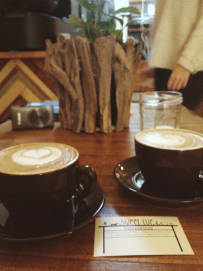 Pretty cappuccinos.